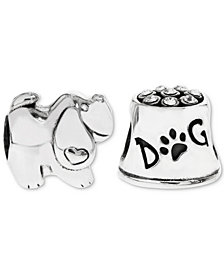Rhona Sutton 2-Pc. Set Puppy Love Bead Charms in Sterling Silver