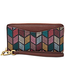 Fossil RFID Caroline Zip Around Phone Wallet