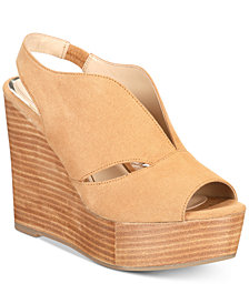 Callisto Franklin Platform Wedge Sandals