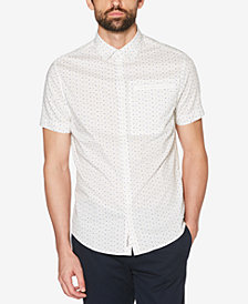 Original Penguin Men's Printed Poplin Slim Fit Shirt