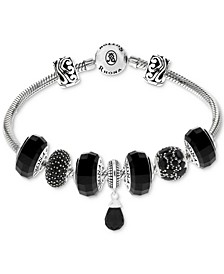 Cubic Zirconia Multi-Charm Bracelet Gift Set in Sterling Silver