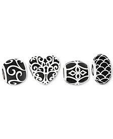 Rhona Sutton 4-Pc. Set Enamel Decorative Bead Charms in Sterling Silver