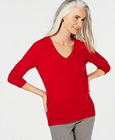 Charter Club Pure Cashmere V-neck Sweater, Created for Macy's