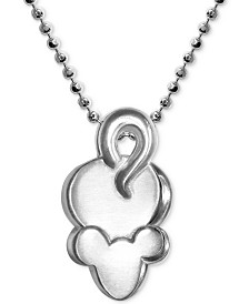 "Alex Woo Mini Mouse Pendant 16"" Necklace in Sterling Silver"