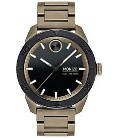 Movado Men's Swiss BOLD Khaki-Tone Stainless Steel Bracelet Watch 43.5mm
