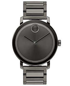Movado Men's Swiss BOLD Evolution Gunmetal Stainless Steel Bracelet Watch 40mm