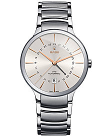 Rado Men's Swiss Automatic Centrix Stainless Steel Bracelet Watch 40mm