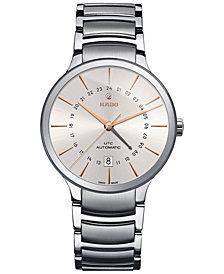 Rado Men's Swiss Automatic Centrix Stainless Steel Bracelet Watch 40mm
