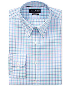 Lauren Ralph Lauren Men's Slim-Fit Non-Iron Stretch Plaid Dress Shirt
