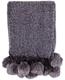 "Berkshire Faux-Fur 50"" x 60"" Pom Pom Throw"