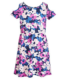 Epic Threads Big Girls Printed Cold Shoulder Dress, Created for Macy's