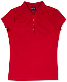 Nautica Big Girls Performance Polo Shirt