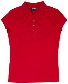 Nautica Big Girls Plus-Size Performance Polo Shirt