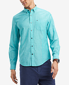 Tommy Hilfiger Men's Southern Prep Cotton Linen Blend Shirt, Created for Macy's