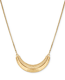 "Lucky Brand Gold-Tone Dimensional 23"" Slider Necklace"
