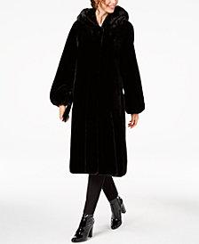 Jones New York Petite Hooded Faux-Fur Coat
