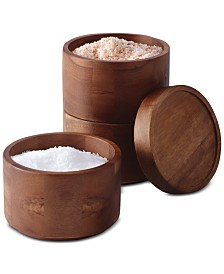 Rachael Ray Tools and Gadgets Wooden 3-Tier Stacking Salt Box