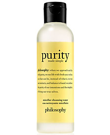 philosophy Purity Made Simple Micellar Cleansing Water, 3.4-oz.
