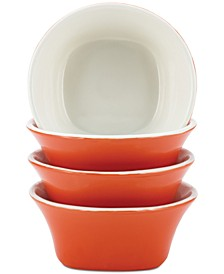 Round & Square Orange Set of 4 Fruit Bowls
