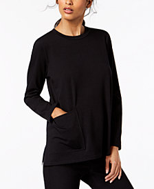 Eileen Fisher Crew-Neck Pocket Top