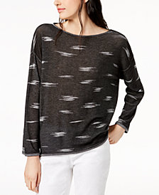 Eileen Fisher Tencel® Boat-Neck Sweater