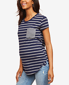 Motherhood Maternity Striped T-Shirt