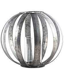 "Home Essentials 9"" Galvanized Sphere Votive Lantern"