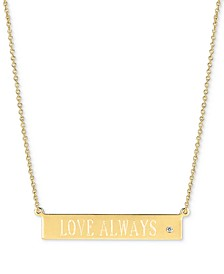 "Diamond Accent ""Love Always"" Pendant Necklace, 16"" + 2"" extender"