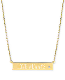 "Sarah Chloe Diamond Accent ""Love Always"" Pendant Necklace, 16"" + 2"" extender"