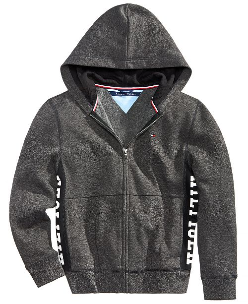 Tommy Hilfiger Toddler Boys Full Zip Hooded Sweatshirt Sweaters