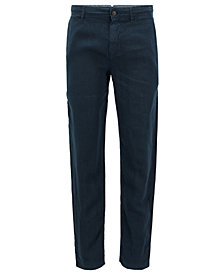 BOSS Men's Tapered-Fit Linen Pants