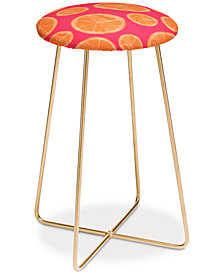 Deny Designs Allyson Johnson Orange Counter Stool