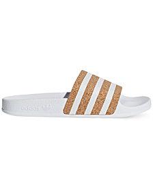 adidas Women's Originals Adilette Cork Slide Sandals from Finish Line