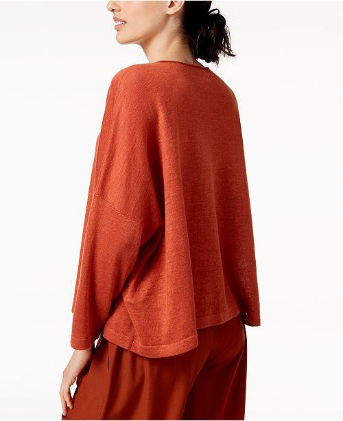 Organic Eileen Fisher Orange Top Pekoe Linen Cr5wxdUrq