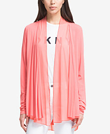 DKNY Draped Open-Front Blazer