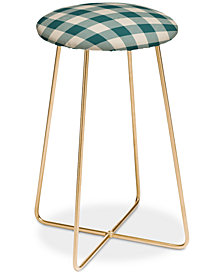 Deny Designs Zoe Wodarz Cozy Woods Plaid Counter Stool