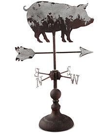 Home Essentials Decorative Galvanized Pig Weather Vane