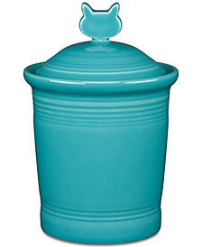 Fiesta Turquoise Cat Treat Jar