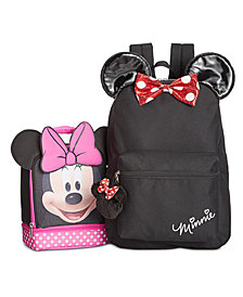 Minnie Mouse Little & Big Girls Backpack & Double-Compartment Lunch Bag