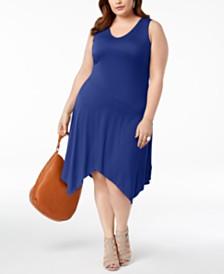 I N C Plus Size Handkerchief Hem Dress Created For Macy S