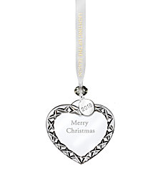 "Waterford Heart ""Merry Christmas"" Ornament"