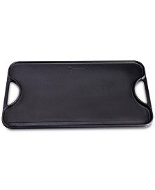 "Victoria Cast Iron Large Reversible 18.5"" x 10"" Rectangular Griddle"