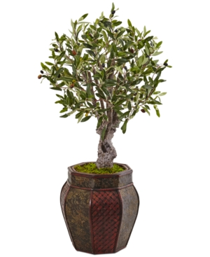 Nearly Natural 3 Olive Artificial Tree in WeavePanel Planter