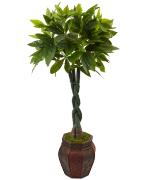 Nearly Natural 45 Money Artificial Tree in MixedPattern Planter