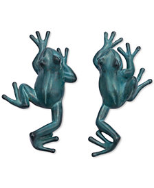 Zuo Frogs Wall Decor Blue & Green, Set of 2