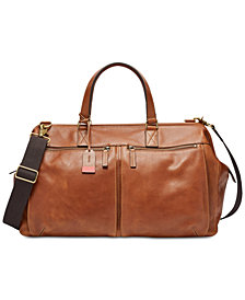Fossil Men's Leather Duffel Bag