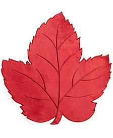 Elrene Velvet Leaf Die-Cut Placemat