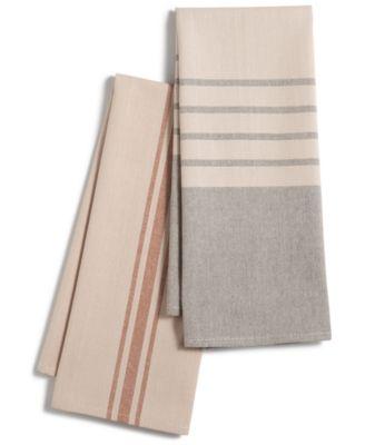 CLOSEOUT! Set of 2 Harvest Stripe Kitchen Towels