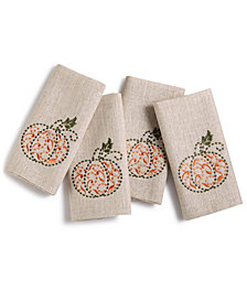 Lenox French Perle Pumpkin Napkins, Set of 4