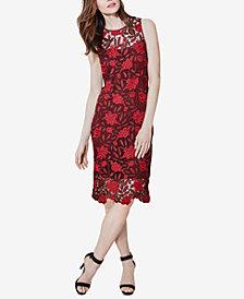 Calvin Klein Petite Two-Tone Lace Sheath Dress